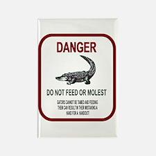 Gator Danger Rectangle Magnet