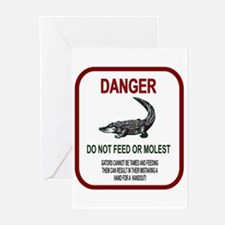Gator Danger Greeting Cards (Pk of 10)