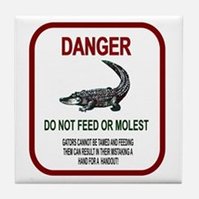 Gator Danger Tile Coaster