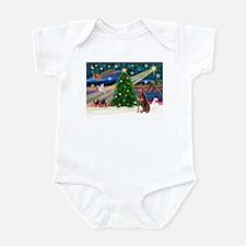 Xmas Magic/Red Dobie Infant Bodysuit