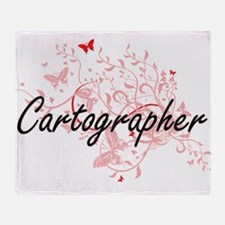 Cartographer Artistic Job Design wit Throw Blanket
