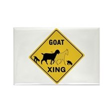 Goat Crossing, USA Rectangle Magnet