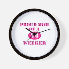 Proud Mom 24 Weeker Wall Clock