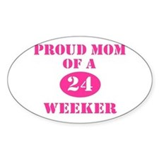 Proud Mom 24 Weeker Oval Decal