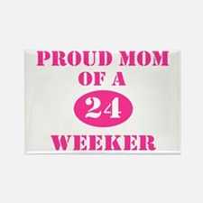 Proud Mom 24 Weeker Rectangle Magnet (10 pack)