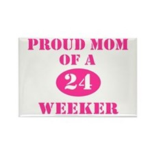 Proud Mom 24 Weeker Rectangle Magnet