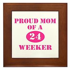 Proud Mom 24 Weeker Framed Tile