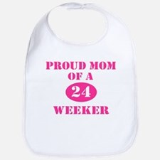 Proud Mom 24 Weeker Bib