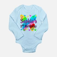 1ST YR BUTTERFLY Long Sleeve Infant Bodysuit