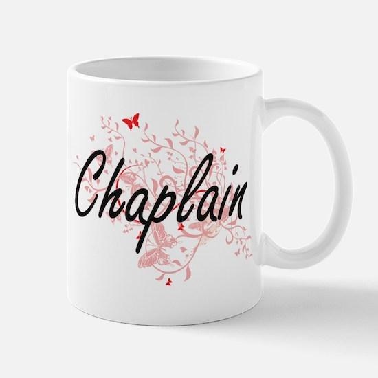 Chaplain Artistic Job Design with Butterflies Mugs
