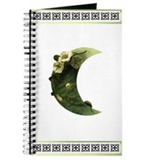 Druid Crescent Moon Flower Journal