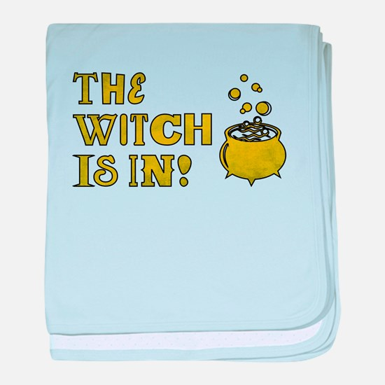 THE WITCH IS IN! baby blanket