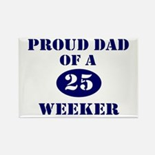 Proud Dad 25 Weeker Rectangle Magnet