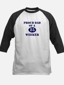 Proud Dad 25 Weeker Kids Baseball Jersey