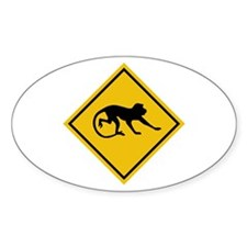 Warning Long-tailed Macaques, Malaysia Decal