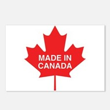 Made in Canada Maple Leaf Postcards (Package of 8)