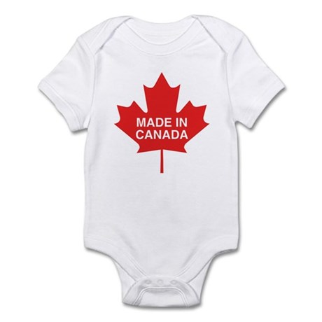 Made in Canada Maple Leaf Infant Bodysuit