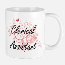 Clerical Assistant Artistic Job Design with B Mugs