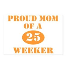 Proud Mom 25 Weeker Postcards (Package of 8)
