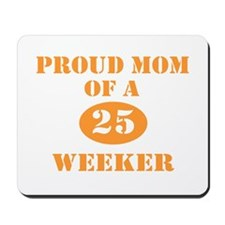 Proud Mom 25 Weeker Mousepad
