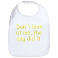 the dog did it yellow Bib