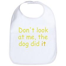 the dog did it yellow Bib