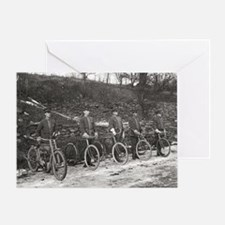 Black and white bicycle Greeting Card