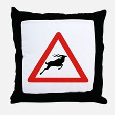 Attention Koudous, South Africa Throw Pillow