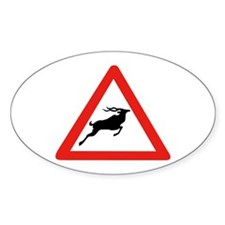 Attention Koudous, South Africa Oval Decal