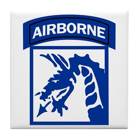 18th Army Airborne Tile Coaster