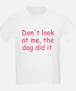 dog did it pink T-Shirt