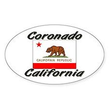 Coronado California Oval Decal