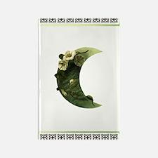 Druid Crescent Moon Flower Rectangle Magnet