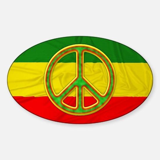 Rasta Peace Symbol Decal