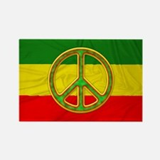 Rasta Peace Symbol Magnets