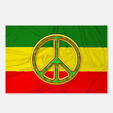 Rasta Peace Symbol Postcards (Package of 8)