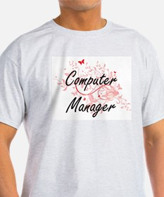Computer Manager Artistic Job Design with T-Shirt