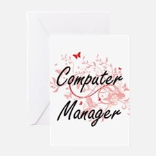 Computer Manager Artistic Job Desig Greeting Cards