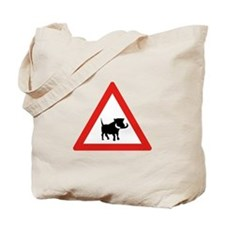 Beware of Warthogs, South Africa Tote Bag