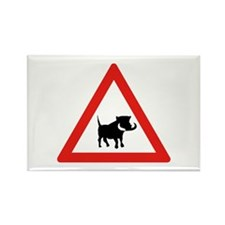 Beware of Warthogs, South Africa Rectangle Magnet