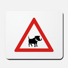 Beware of Warthogs, South Africa Mousepad