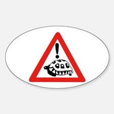 Caution Turtles, South Africa Oval Decal
