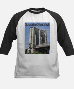 Brooklyn Bridge at Old Fulton Kids Baseball Jersey