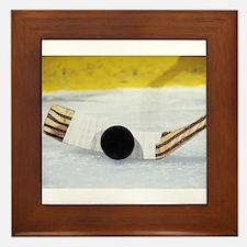 hockey puck Framed Tile