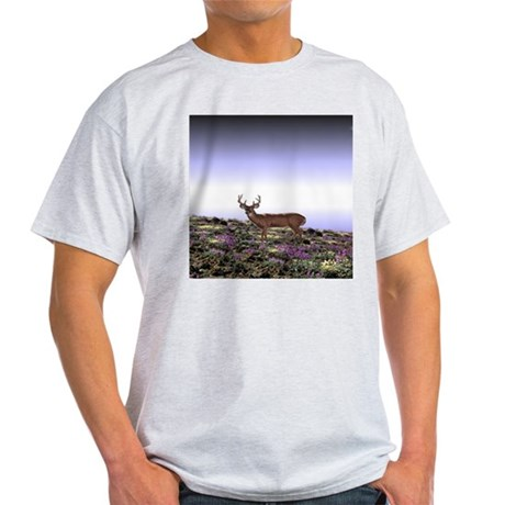 Deer Scene Ash Grey T-Shirt