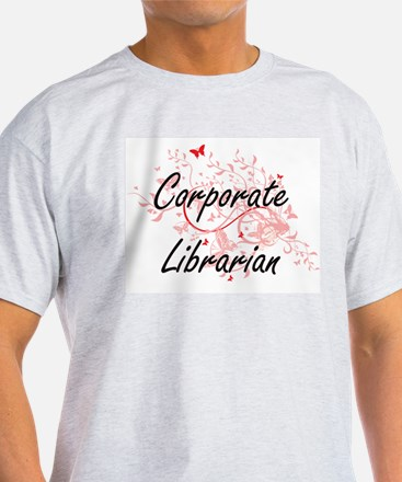 Corporate Librarian Artistic Job Design wi T-Shirt