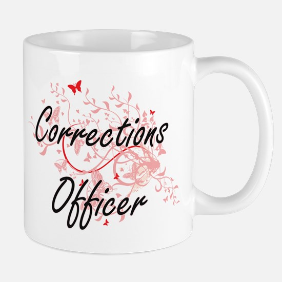 Corrections Officer Artistic Job Design with Mugs