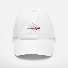 Cosmetologist Artistic Job Design with Butterf Baseball Baseball Cap
