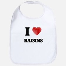 I Love Raisins Bib