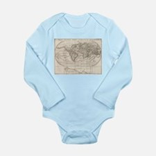 Vintage Map of The World (1621) Body Suit